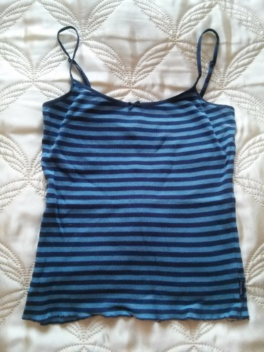 uniwersalna bluzka bokserka w paski M 38 niebieska
