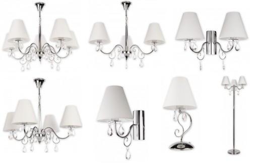 lampy sufitowe chromowane niklowane z abazurem