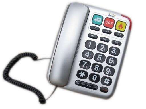 Telefon stacjonarny dla seniora LJ-300 DarTel sreb