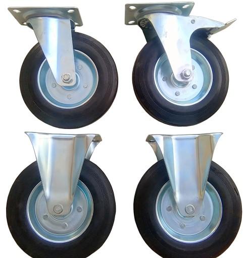 Zestaw 4 szt koło kółko koła kółka 200 mm obrotowe