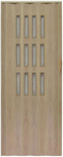 Drzwi Harmonijkowe Przesuwne Z Szybkami 001s 80 Cm 6683807434 Allegro Pl