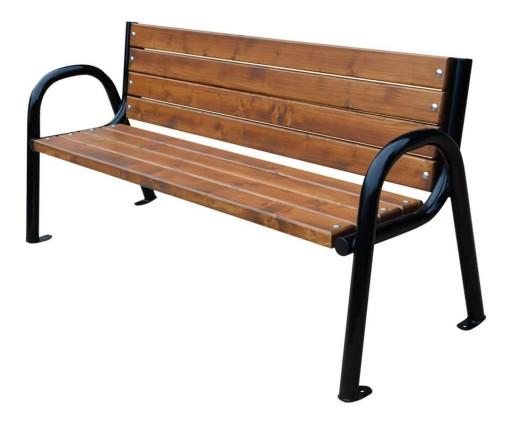 W Mega Ławka nowoczesna z oparciem 150 cm drewniana ogród 6829794771 WG85