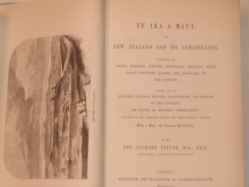 Te Ika a Maui: Or, New Zealand .... reprint 1855