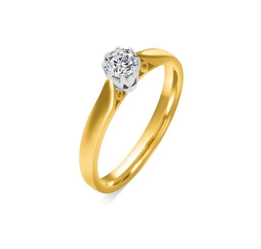 Pierścionek Zaręczynowy Z Brylantem 025 Ct 50 7393506833 Allegropl