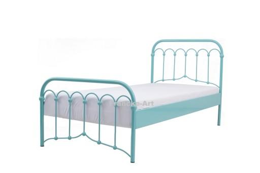 łóżko Metalowe Kute Avia 120x200 Turkus