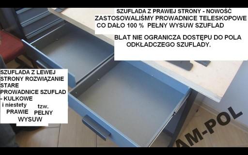 Stół, szafka narzędziowa, szuflady 100% wysuw, WB6
