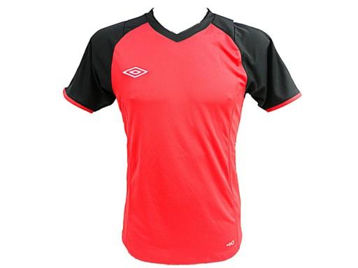 ca8c3a42 Koszulka UMBRO czerwono-czarna S WYPRZEDAŻ 5915763603 - Allegro.pl
