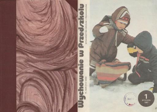 WYCHOWANIE W PRZEDSZKOLU - 1987 rocznik w oprawie