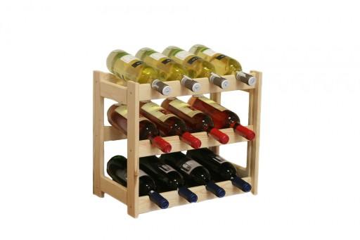 Poważnie Regał na wino drewniany stojak półka RW-1-12 6953155917 - Allegro.pl UP68