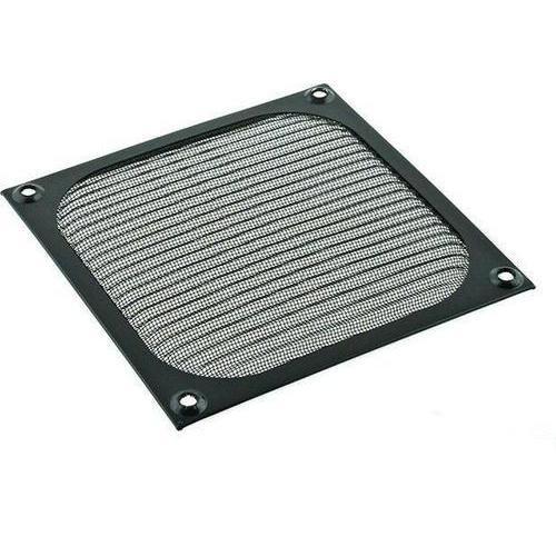 Czarny Metalowy Aluminiowy Filtr z Siatką 120mm