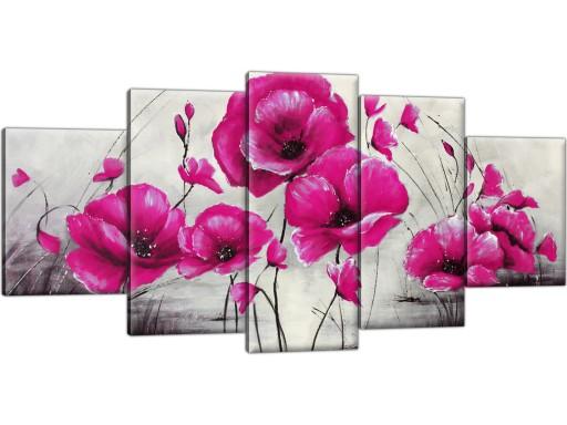 Obraz Na Płótnie Tryptyk Kwiaty 150x70 Do Salonu 6853555529 Allegropl
