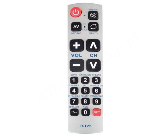 pilot uniwersalny R-TV2 duże przyciski dla seniora