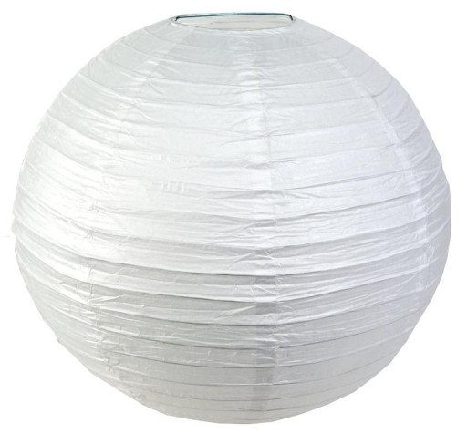 Papierowy Klosz Abażur Lampion Lampa 40cm Biały 9721077231 Allegro Pl