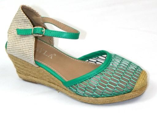 64e9d088d924f Klasyk espadryle koturny sandały zakryty przód 39 6827053088 ...