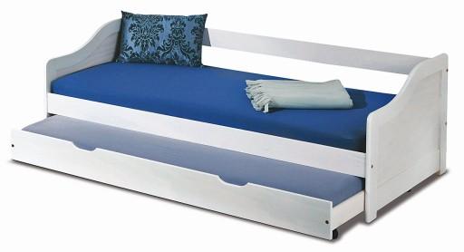 łóżko Podwójne Wysuwane Dzieci Młodzież Dwuosobowe