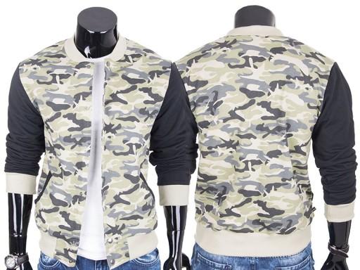 Bejsbolówka kurtka bluza męska ze stójką moro XXL