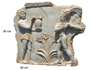 Płaskorzezba grecka odlew gipsowy rzezba gipsowa