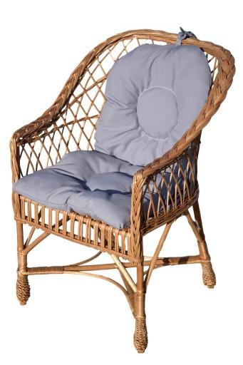 Fotel Wiklinowy Z Wikliny Krzesło Poduszki Różne