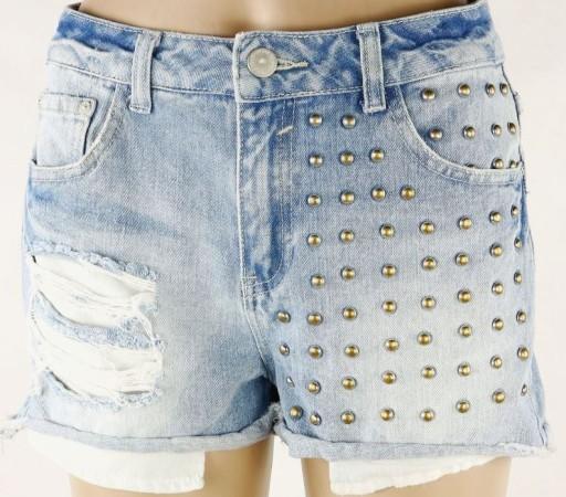CUBUS jeansowe spodenki szorty DZIURY ĆWIEKI 34