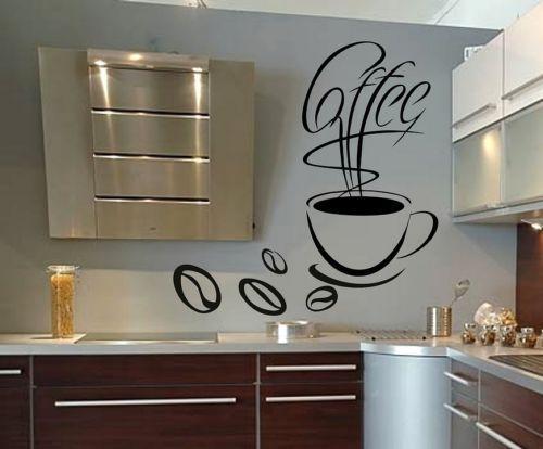 naklejki ścienne ścianę do kuchni kawa filiŻanka