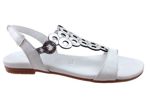 a17951c74a388c Tamaris buty sandały 28102 białe, skóra 38 6773389310 - Allegro.pl