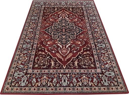 Dywan Wełniany Isfahan Leyla 160x240 Rubin Bordowy