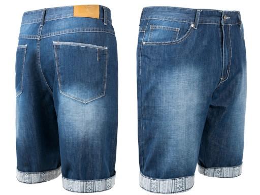 951e5139aad471 Krótkie Spodenki Szorty Jeans Męskie L0002 106 cm 7349291274 ...