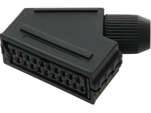 Gniazdo EURO SCART montowane na kabel 24h FV(0873)