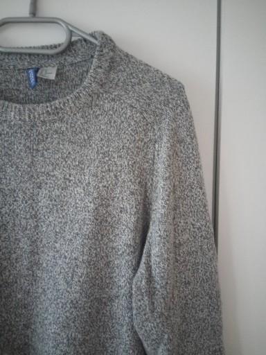 H&M Divided sweter męski szary melanż 38 M 9879588827 Odzież Męska Swetry QX KVRZQX-4