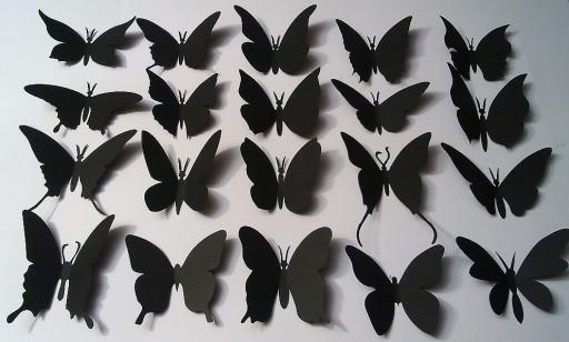 Motylki Motyle 3D naklejki na ścianę 35szt+5GRATIS
