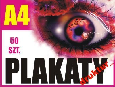 Plakaty A4 50 Sztuk Plakat Druk Tanie Express