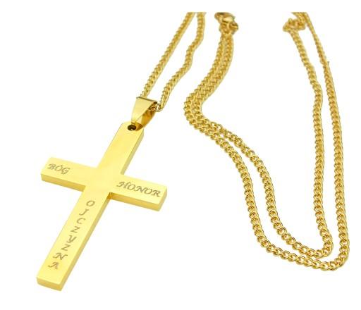 Naszyjnik Solidny Krzyz Krzyzyk Bog Honor Ojczyzna 7301962351 Allegro Pl