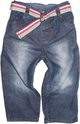 MOTHERCARE  proste jeansy z paskiem 90 cm