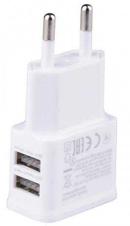 ŁADOWARKA UNIWERSALNA SIECIOWA 2x USB WTYCZKA GSM