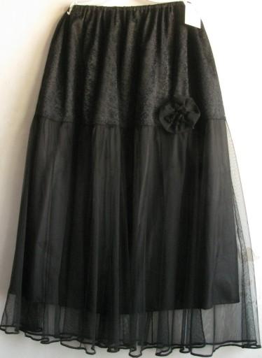 * Czarna spódnica z koronką i tiulem na r 52.56