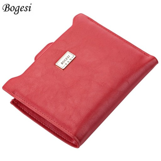 14c06d6698e09 portfel damski BOGESI skóra mały bilon 2 kolory 7121528710 - Allegro.pl