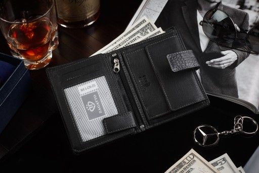 87407aef28fa82 Skórzany portfel męski Zagatto z ochroną kart RFID 6961102300 ...