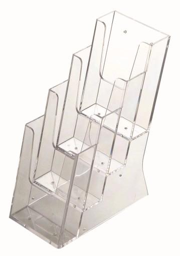 Stojak ekspozytor na ulotki 4 x DL (1/3 A4)
