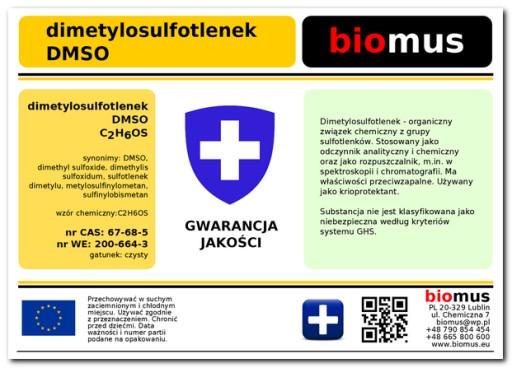 DMSO Dimetylosulfotlenek Czysty Poj. 1000ml biomus