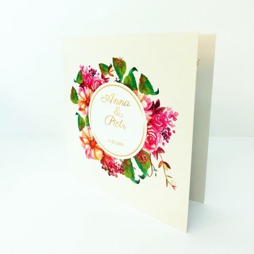Zaproszenia ślubne Kwiaty Rustykalne Eleganckie 7119985972 Allegropl