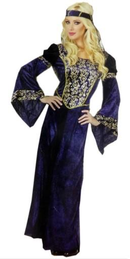 Strój Lady Marion Dama Dworu Księżniczka roz.S-L
