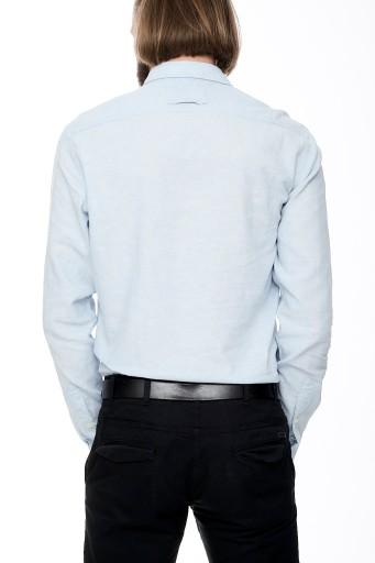 KOSZULA MĘSKA CAMEL ACTIVE BŁĘKITNA FITTED S 7622892615 Odzież Męska Koszule TP JACDTP-7