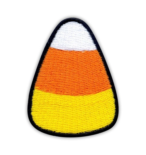 Naszywka Candy Corn - na HALLOWEEN, Cukierek HAFT