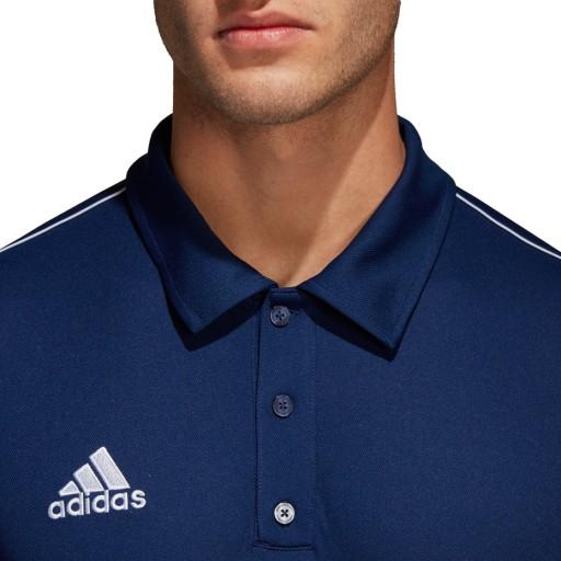 Koszulka adidas core 18 polo granatowa cv3589