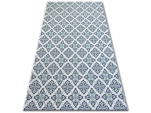 Dywany łuszczów Sznurkowy 200x290 Kwiaty Bia B474