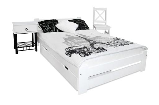 łóżko Drewniane Eureka 140x200 B Stelaż Sypialnia