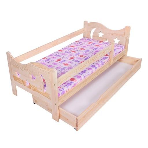 Łóżko dla dzieci Mikołaj 160x80 + materac Sosna