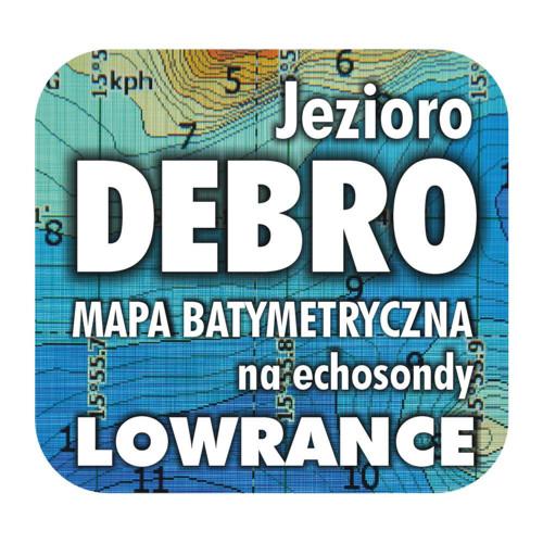Jezioro Debro mapa na echosondy Lowrance Simrad BG