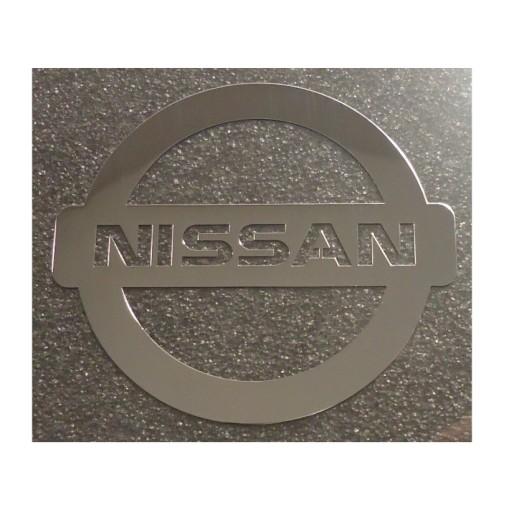 438 NAKLEJKA NISSAN LOGO Metal Edition 30x27 mm