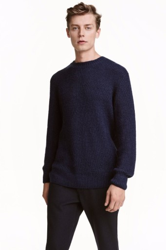 DAVID BECKHAM BLUE SWETER H&M BLUZA MENS 7623153068 Odzież Męska Swetry DI VXFDDI-6